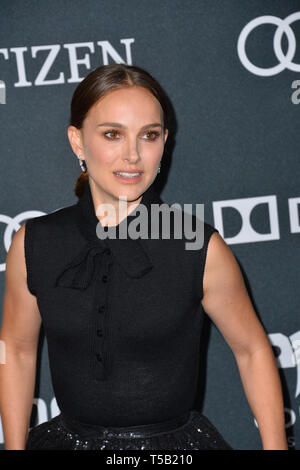 "Los Angeles, USA. 22 Apr, 2019. LOS ANGELES, USA. April 22, 2019: Natalie Portman bei der Weltpremiere von ""Marvel Studios"" Avengers: Endgame"". Credit: Paul Smith/Alamy leben Nachrichten - Stockfoto"