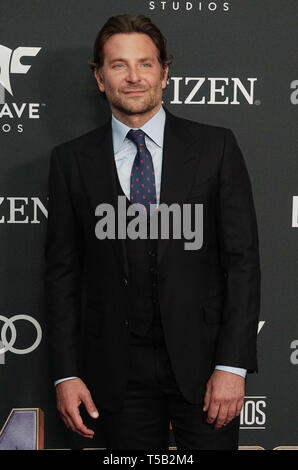 Los Angeles, USA. 22 Apr, 2019. Bradley Cooper besucht die Weltpremiere von Walt Disney Studios Motion Pictures Avengers Endgame im Los Angeles Convention Center am 22. April 2019 in Los Angeles, Kalifornien. Credit: Tsuni/USA/Alamy leben Nachrichten - Stockfoto