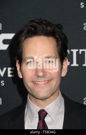 "Los Angeles, USA. 22. Apr 2019. Paul Rudd 04/22/2019 Die Weltpremiere von ""Marvel Studios ・Avengers: Endgame' im Los Angeles Convention Center in Los Angeles, CA Foto von Izumi Hasegawa/HollywoodNewsWire.co Credit: Hollywood News Wire Inc./Alamy Leben Nachrichten gehalten - Stockfoto"