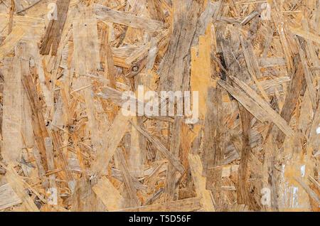OSB Platten Holz- Hintergrund. Oriented Strand Board. - Stockfoto