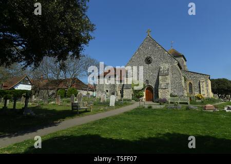 Der hl. Margarete von Antiochia Kirche in Rottingdean in der Nähe von Brighton East Sussex UK - Stockfoto