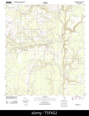 USGS TOPO Karte Florida FL Clarksville 20120807 TM Wiederherstellung - Stockfoto
