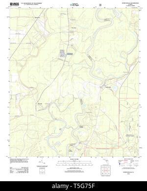 USGS TOPO Karte Florida FL Estiffanulga 20120807 TM Wiederherstellung - Stockfoto