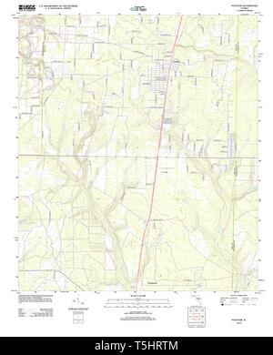 USGS TOPO Karte Florida FL Brunnen 20120807 TM Wiederherstellung - Stockfoto