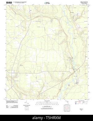 USGS TOPO Karte Florida FL Frink 20120807 TM Wiederherstellung - Stockfoto