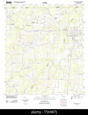 USGS TOPO Karte Florida FL Graceville 20120807 TM Wiederherstellung - Stockfoto