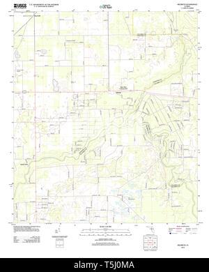 USGS TOPO Karte Florida FL Hildreth 20120807 TM Wiederherstellung - Stockfoto