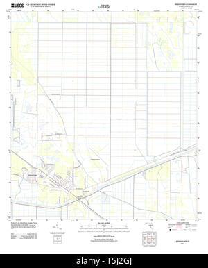USGS TOPO Karte Florida FL Indiantown 20120726 TM Wiederherstellung - Stockfoto