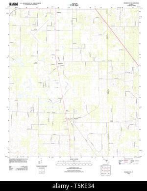USGS TOPO Karte Florida FL Morriston 20120807 TM Wiederherstellung - Stockfoto