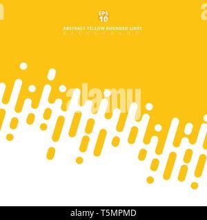 Abstrakte gelber Senf abgerundeten Linien diagonal Rasterungs-Übergang. Vector hintergrund abbildung - Stockfoto