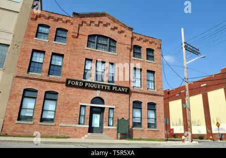 Der Ford Tresterwein Avenue Werk in Detroit, Michigan, ist der Geburtsort des Modell T Automobil. 1904 gebaut, die historische Stätte ist heute ein Museum. - Stockfoto
