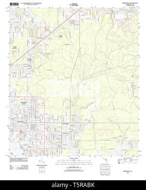 USGS TOPO Karte Florida FL Springfield 20120807 TM Wiederherstellung - Stockfoto