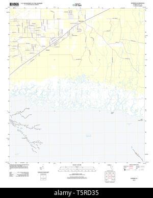 USGS TOPO Karte Florida FL Sumner 20120807 TM Wiederherstellung - Stockfoto