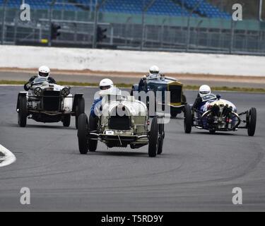 Chris Hudson, Bugatti T 35 B, GP Italia und Lanchester-ausgleich Trophäen Rennen, Vintage Racing Cars, VSCC, Formel Vintage, Silverstone, Northamptonshire, England - Stockfoto