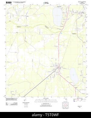USGS TOPO Karte Florida FL Waldo 20120807 TM Wiederherstellung - Stockfoto
