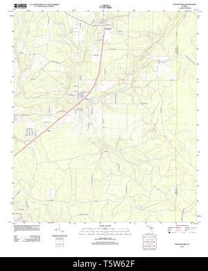USGS TOPO Karte Florida FL Youngstown 20120807 TM Wiederherstellung - Stockfoto