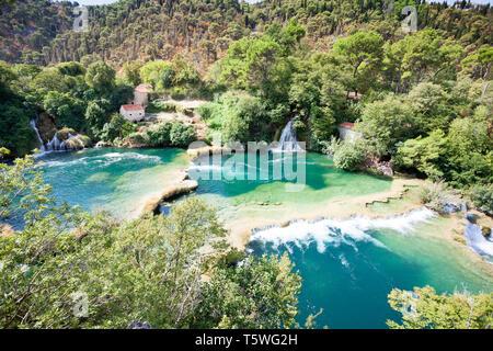Krka, Sibenik, Kroatien, Europa - Genießen Sie die Schönheit der Natur im Nationalpark Krka - Stockfoto
