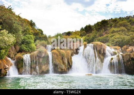 Krka, Sibenik, Kroatien, Europa - Natur pur im Nationalpark Krka - Stockfoto