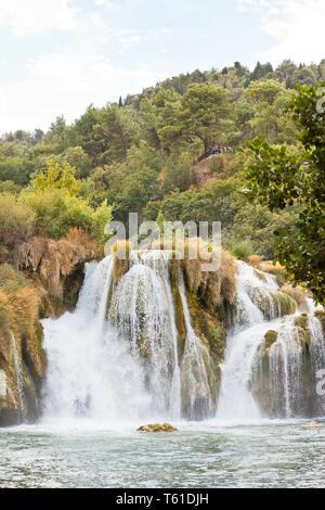 Krka, Sibenik, Kroatien, Europa - viele Rutschen im Nationalpark Krka - Stockfoto