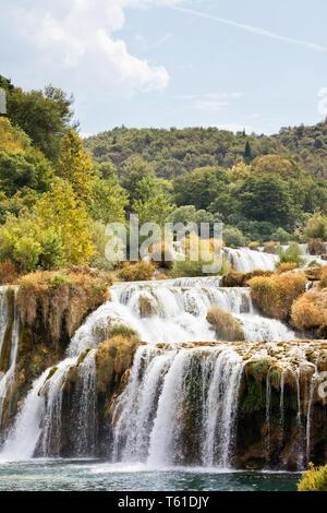 Krka, Sibenik, Kroatien, Europa - erleben Sie einen sonnigen Sommer im Nationalpark Krka - Stockfoto