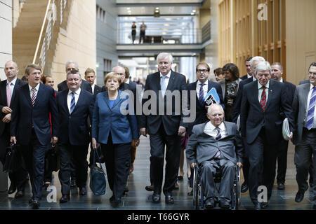 CSU/CDU und SPD - secound Roundof Innenraum, Verkehrsminister Peter Ramsauer, - Stockfoto