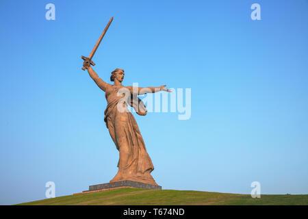 """Das Vaterland ruft!"" Denkmal in Wolgograd, Russland - Stockfoto"