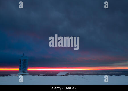 Winter im Nationalpark Harz, Brocken, Deutschland - Stockfoto
