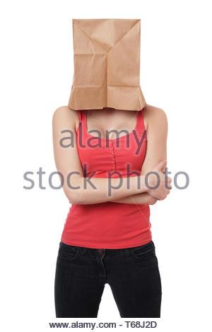 Papier Tasche Frau - Stockfoto