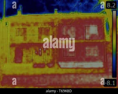 Doppelhaushälfte Infrarot - Stockfoto