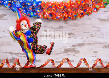 Clowns an deutschen Karneval mit lustigen Kleid - Stockfoto