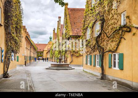 Weltweit ältesten sozialen Wohnungsbau in Augsburg, Deutschland - Stockfoto