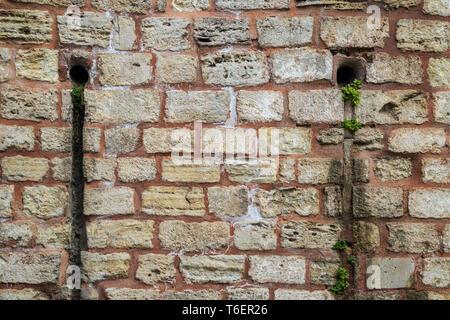 Alte Steinmauer in Istanbul - Stockfoto