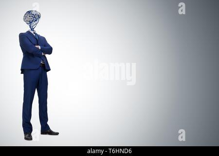 Der Mensch in der Künstlichen Intelligenz Konzept - Stockfoto