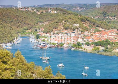 Skradin, Kroatien, Europa - Besuch der Altstadt von Skradin - Stockfoto