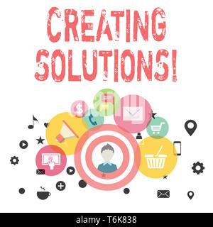 Text Zeichen zeigt das Erstellen von Lösungen. Business Foto präsentiert, Wege, um ein Problem zu lösen oder den Umgang mit Situation Foto des digitalen Marketings Camp - Stockfoto