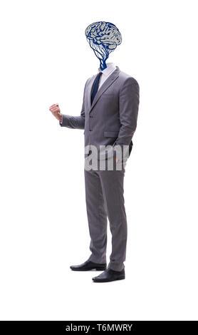 Geschäftsmann in künstliche Intelligenz Konzept - Stockfoto