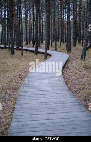 Holzbrett Promenade in der Nähe von Meer in den Dünen über den Sand - Stockfoto