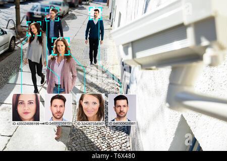 Selektiver Fokus Menschen mit geistigen Learning System erkannt - Stockfoto