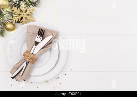 Weihnachten und neues Jahr Tabelle einstellen - Stockfoto