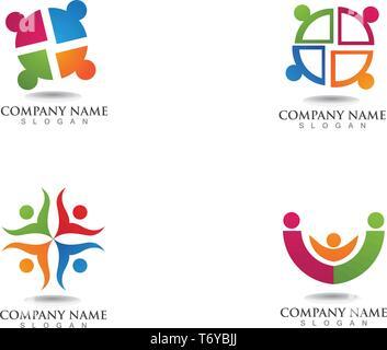 Gemeinschaft Menschen, Logos und Symbole Vorlage - Stockfoto