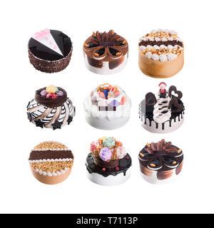Kuchen oder Torten Collection auf einem Hintergrund - Stockfoto