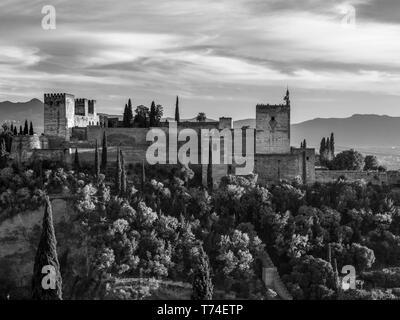 Die Alhambra, ein Palast- und Festungsanlage, Granada, Spanien - Stockfoto