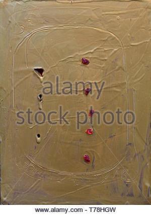 Concetto spaziale - Raumkonzept von Lucio Fontana 1899 Argentinien geboren argentinischen - Stockfoto