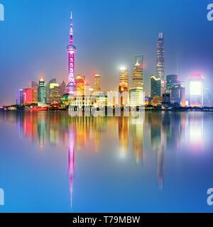 Shangahi Skyline, China. - Stockfoto