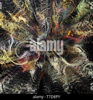 Abstrakte aquarell Textur Hintergrund. Fraktal Kunst mit Zeichnung Nachahmung. Kreative Gestaltung Kulisse. Bunte Muster. - Stockfoto