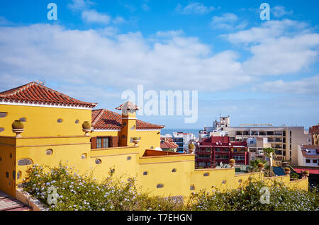 Puerto de la Cruz Stadt Architektur, Teneriffa, Kanarische Inseln, Spanien. - Stockfoto