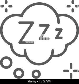 Träume cloud Symbol Leitung. - Stockfoto