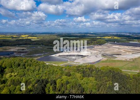Europas größte giftige Abfälle Deponie Ihlenberg im Norden Deutschlands - Stockfoto