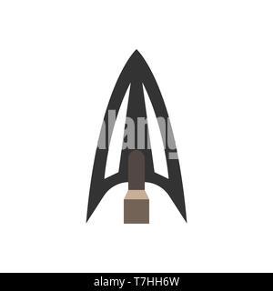 Arowhead bug Flachbild Vektorform element Bogenschießen. Tribal Waffensymbol retro - Stockfoto