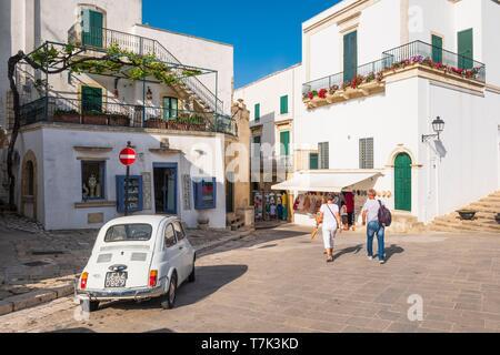 Italien, Apulien, Salento, Otranto, das historische Zentrum - Stockfoto